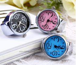 Часы - колечко, оригинальный подарок, разные цвета
