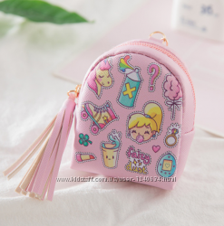 Мини-кошелечки, брелки, рюкзачки Фламинго, Единорог, Розовый, Голубой
