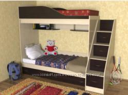 Двухярусная детская кровать Дуэт, кровать - чердак для двоих детей