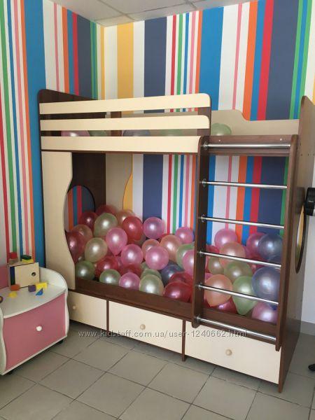 Двухъярусная детская кровать, кровать-чердак для двоих детей, Милана