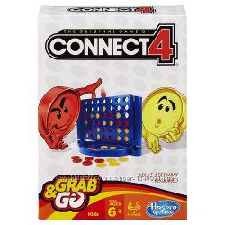 Hasbro Настольная логическая игра Собери 4-ку 4 в ряд дорожная версия Conne