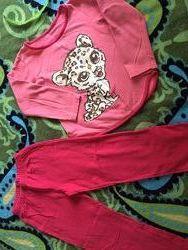 Баевая пижама на дев 5-7лет