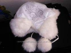 Красивая зимняя шапочка на девочку фирмы Кlimani р. 56.
