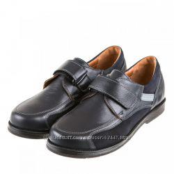 Шикарные очень стильные и качественные кожаные туфли для школы  р. 33
