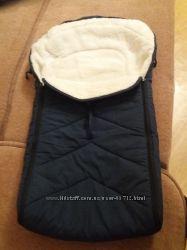 Конверт-чехол для коляски на натуральном меху овчина