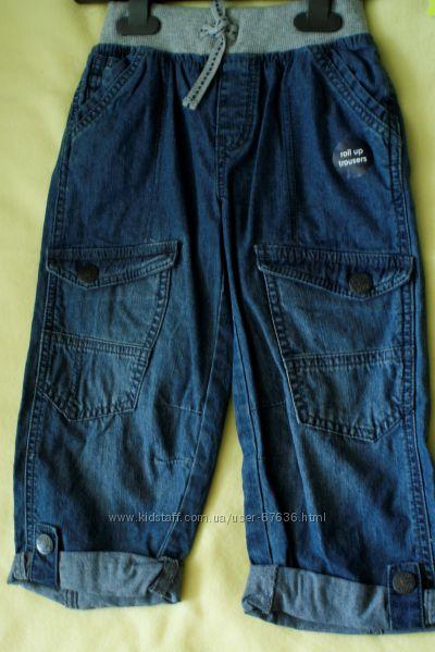 Летние джинсы-капри 7-8лет
