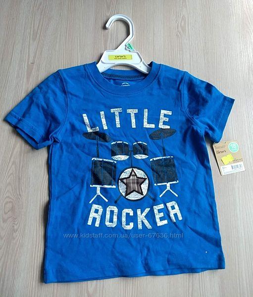 Carters Футболка синяя Рокер 18м