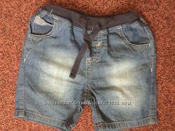 Легкие джинсовые шорты mothercare 6-9мес