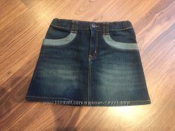 Джинсовая и вельветовая юбочки для девочки от Crazy8, в отличном состоянии