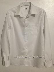 Рубашка Marks&Spenser бу. 100 хлопок. 12-13 лет 158 см