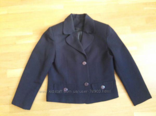 Пиджак для девочки школьный синий р. 140-146