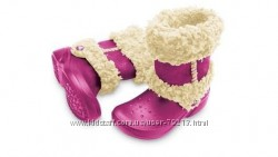 Теплые сапоги кроксы Crocs Nadia boots