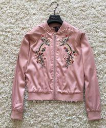 44a6b59b6bc Бомбер куртка ветровка розовая с вышивкой AQUA Оригинал