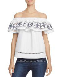 Топ белый блуза блузка белая хлопок Endless Rose оригинал лето с вышивкой