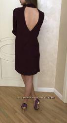 Платье марсала бордовое COS с длинным рукавом весеннее вискоза оригинал