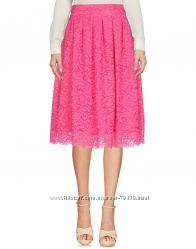 Юбка розовая кружевная guess marciano оригинал пышная колокол фуксия