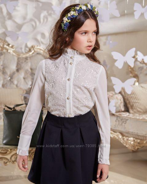 116-158 Нарядная блуза для школьницы Николет  ТМ Suzie
