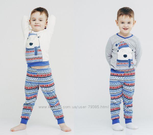 104-152 Пижамки для девочек и мальчиков ТМ Смил светятся в темноте