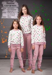 98-116 Пижама детская Сердца  Oven