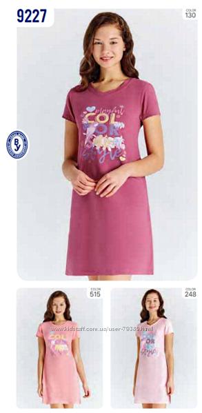 134-140 Ночная рубашка короткий рукав мод. 9227  Baykar