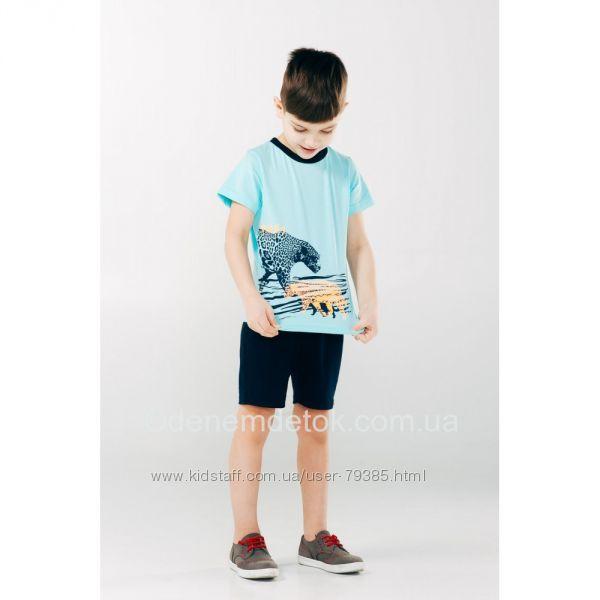 92р Летний комплект для мальчика бирюза ТМ Смил Мечтатели