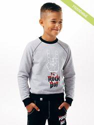98-140  Джемпер для мальчика с начесом Смил
