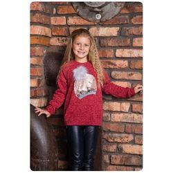 128, 134  Теплая нарядная кофта для девочки Руби ТМ Suzie