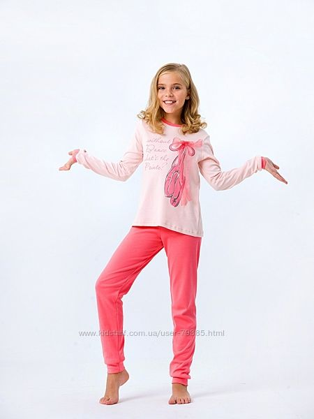 122-164  Пижама для девочки Заветная мечта Розовая   Смил