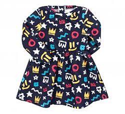 80-146  Платье трикотажное тринитка ПЛ303 Бемби