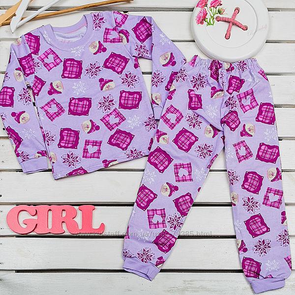 128,134  Пижама теплая детская 329-312 байка Фламинго-текстиль