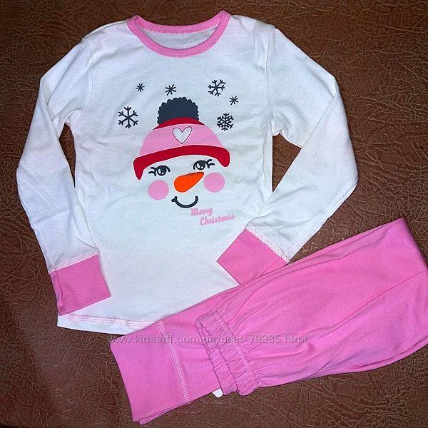 122,140  Пижама для девочки мод262 Фламинго-текстиль