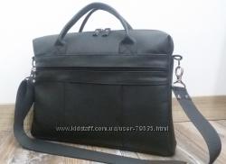 Кожаный черный портфель