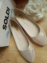 Кожаные балетки Кензо в коже пайетки в наличии 39 размер.