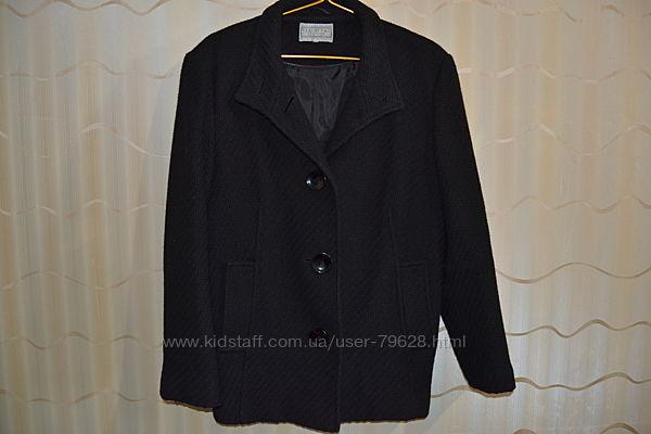 Отличное пальто полупальто Debenhams батал шерсть