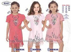 Платья девочковые, хлопок, Турция