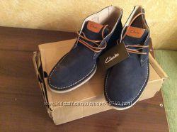 Осенние натуральные ботинки Clarks