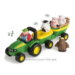 Музыкальный трактор с животными John Deere Animal Sounds Hayridе США