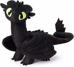 Дракон Беззубик 35 см Оригинал Dreamworks Dragons Toothless