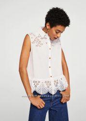 Хлопковая блузка Mango размер М