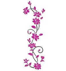 Стикеры самоклеющиеся из акрила на стену цветы фиолетовые красные синие