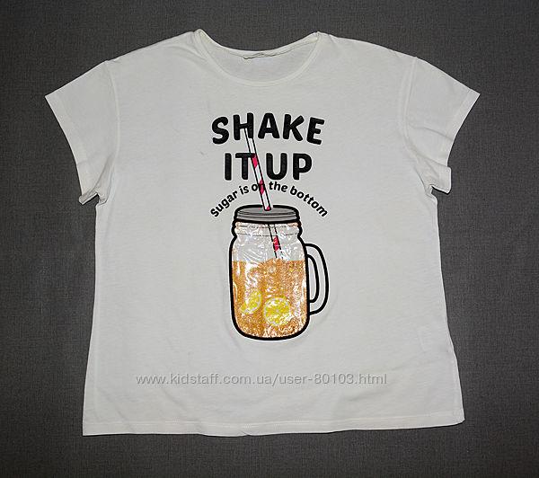 Стильные фирменные футболочки на девочку р 158-176