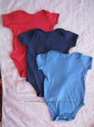 Бодики от 1-3 лет унисекс с коротким и длинным рукавом