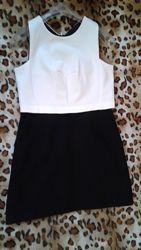 Next новое комбинированное черно-белое платье л-хл