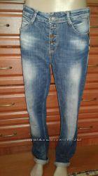 Woox турция крутые потертые джинсы-бойфренды w28 l29