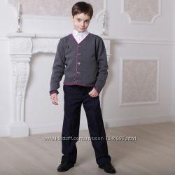 Брюки классические темно-синие для мальчика, полированый котон, BOGI, Боджи