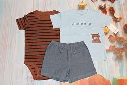 Комплект костюм футболка, шорты, бодик Carters Картерс