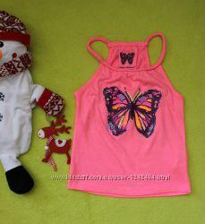 Неоновая стильная майка бабочка
