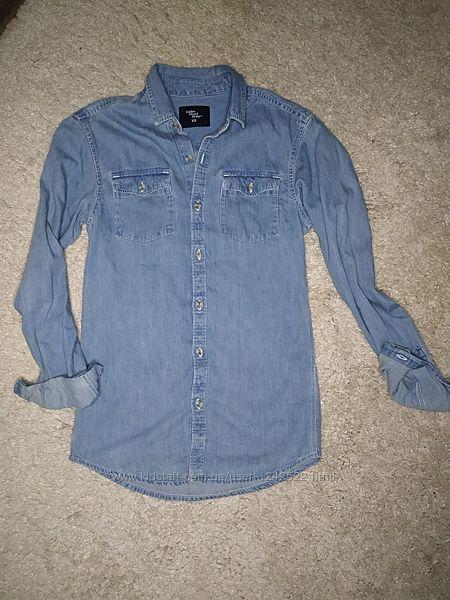 Стильная мужская джинсовая рубашка