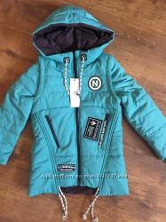 Демисезонная куртка трансформер, куртка-жилетка 2 в 1, рост 116см