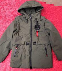 Демисезонная куртка трансформер мальчику, рост 116см